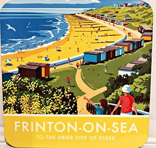Og Frinton-On-Sea Ilustración Corcho Base Posavasos(Se)