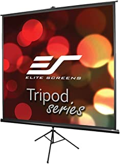 Elite Screens Tripod Series, 50-INCH 1:1, Adjustable Multi Aspect Ratio Portable Indoor Outdoor Projector Screen, 8K / 4K Ultra HD 3D Ready, 2-Year Warranty, T50UWS1