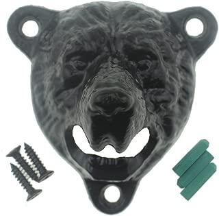 Black Bear Bottle Opener Wall Mounted Outdoor, Bear Teeth Bite Hanging Bottle Opener(Black Bear)