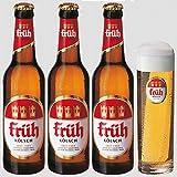 【乾杯セット】 フリュー ケルシュ 330ml ボトル 3本 + 専用グラス 1個 セット