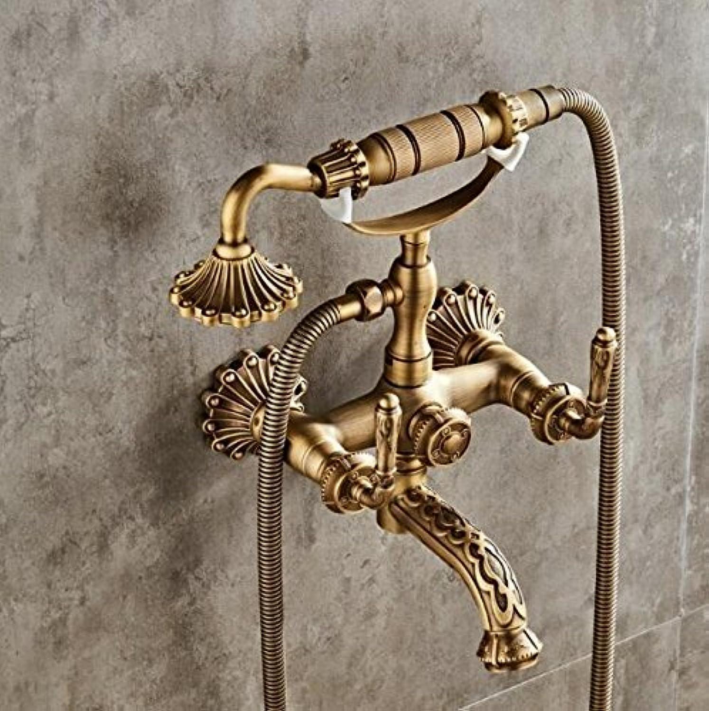 Neue Ankunft insgesamt Brass Classic Bronze fertigen Badezimmer Badewanne Dusche an der Wand montierte Dusche Wasserhahn Armatur Wasserhahn tippen Sie auf