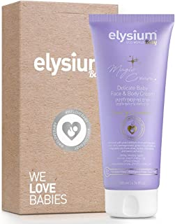 Elysium Organic Baby Lotion Baby Moisturizer with Aloe Vera & Green Tea Calming & Soothing Face and Body Cream Hypoallergenic Vegan Natural Baby Lotion for Newborns Toddlers Kids