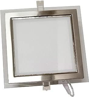 18W 6500K 1620 Lumen Seten Nikel 160x160 SMD Ledli Camlı Armatür - Soğuk Beyaz