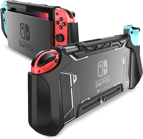Dockable Case for Nintendo Switch, Mumba [Blade Series] TPU Grip Protective Cover Case Compatible with Nintendo Switc...