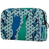 Bolsa de brochas de maquillaje personalizables, bolsas de aseo portátiles para mujer, organizador de viaje cosmético, reflexión de conejo