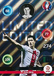 Robert Lewandowski 2016 Panini Adrenalyn UEFA EURO France EXCLUSIVE Limited Edition MINT! Rare Card Imported from Europe! Shipped in Ultra Pro Top Loader to Protect it! WOWZZER!