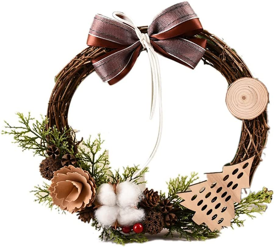 Fees free!! Christmas Wreath Mail order Swags Garland for Wreaths Front Chr Rattan Door