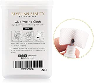 BEYELIAN Glue Wiping Cloth Eyelash Extensions Clean White Pads Non-woven Fabric Wiper 180Pcs/box Cleanser