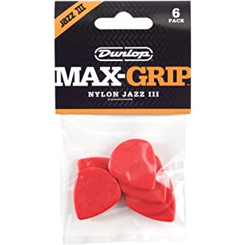 Dunlop Jazz III  Plek Max Grip rot Nylon 1,38mm,24er-Set