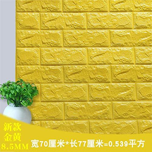 Raumnutzungsfenster Wohnhöhe Gold. Backstein Tapete Wohnzimmer Tapete