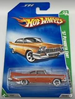 2009 Hot Wheels Treasure Hunts, 1957 Plymouth Fury, 02 of 12, 044/190 (1 Each) 1:64 Scale