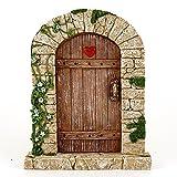 Top Collection 7' Miniature Fairy Garden & Terrarium Charming Cobblestone Door Decor, Small