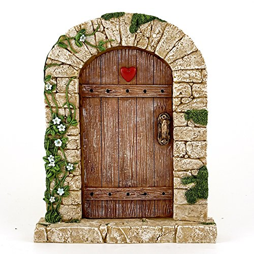 Top Collection 7 Miniature Fairy Garden & Terrarium Charming Cobblestone Door Decor, Small