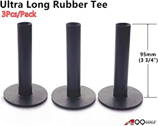 "A99 Golf Ultra Long Rubber Tee Black 3 3/4"" (95mm) (3pcs)"