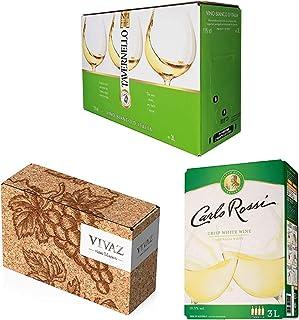 【売れ筋3L バッグインボックスワイン】 白飲み比べ3本セット(イタリア スペイン オーストラリア)