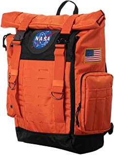 Nasa Orange Flight Suit Rolltop Backpack with Patches Standard