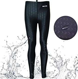 Unisex Rash Guard Pants Long Swim Leggings UV Protective Basic Pants Swimwear Wetsuit for Scuba Diving Canoeing
