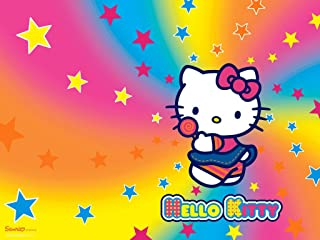 Hello Kitty Rainbow Stars Edible Cake Topper Frosting 1/4 Sheet Birthday Party