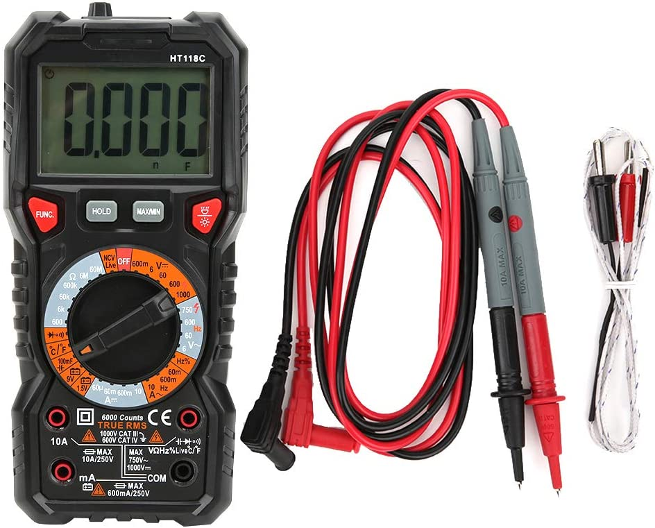 Fafeicy HT118C Multimeter 6000 Count Max 54% Max 45% OFF OFF Digital Automatic Tr Range