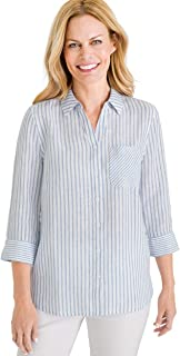 Chico's Women's No-Iron Linen Shirt