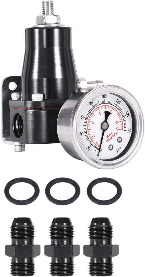 Regular dealer Ae-ro 13130 Regular store 30-70Psi Fu-el Pressure E-FI Regulator Gauge Mo-tive