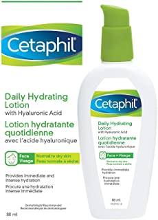 Cetaphil Daily Hydrating Lotion with Hyaluronic Acid - 24Hr Hydration - Fragrance-Free, Paraben-Free - For Dry and Sensiti...