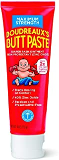 Boudreaux's Butt Paste Diaper Rash Ointment | Maximum Strength | 4-Ounces Tube | 1-Unit