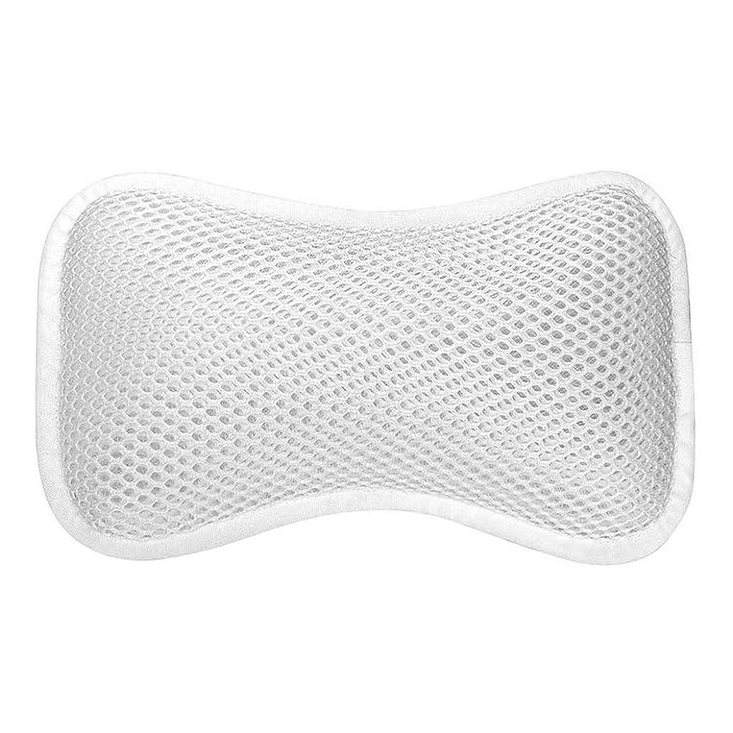 起業家トレイばかげた3D網の骨の定形バスタブの枕、吸盤が付いている人間工学的の設計滑り止??めの浴槽の枕