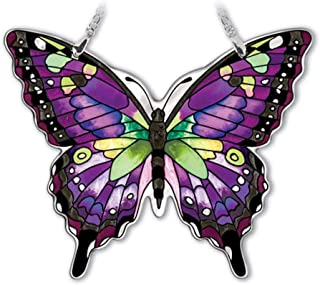 Amia Studios Purple Swallowtail Sun Catcher Amia Water Cut Glass 5 Inch by 6 Inch