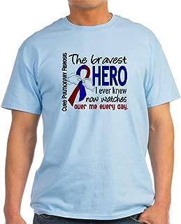 Pulmonary Fibrosis Bravest Hero I Cotton T-Shirt