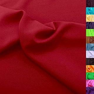 Modestoff / Dekostoff universal Stoff ALLROUND knitterarm - Meterware am Stück Wein-Rot