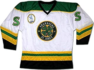 borizcustoms Ross The Boss Rhea ST John's Shamrocks Hockey Jersey with EMHL Patch Stitch