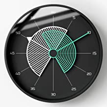 Wall Clock Mute Wall Clock Nordic American Household Watches Living Room Bell Ornaments 30CM * 30CM * 5.1CM LJJCUICAN