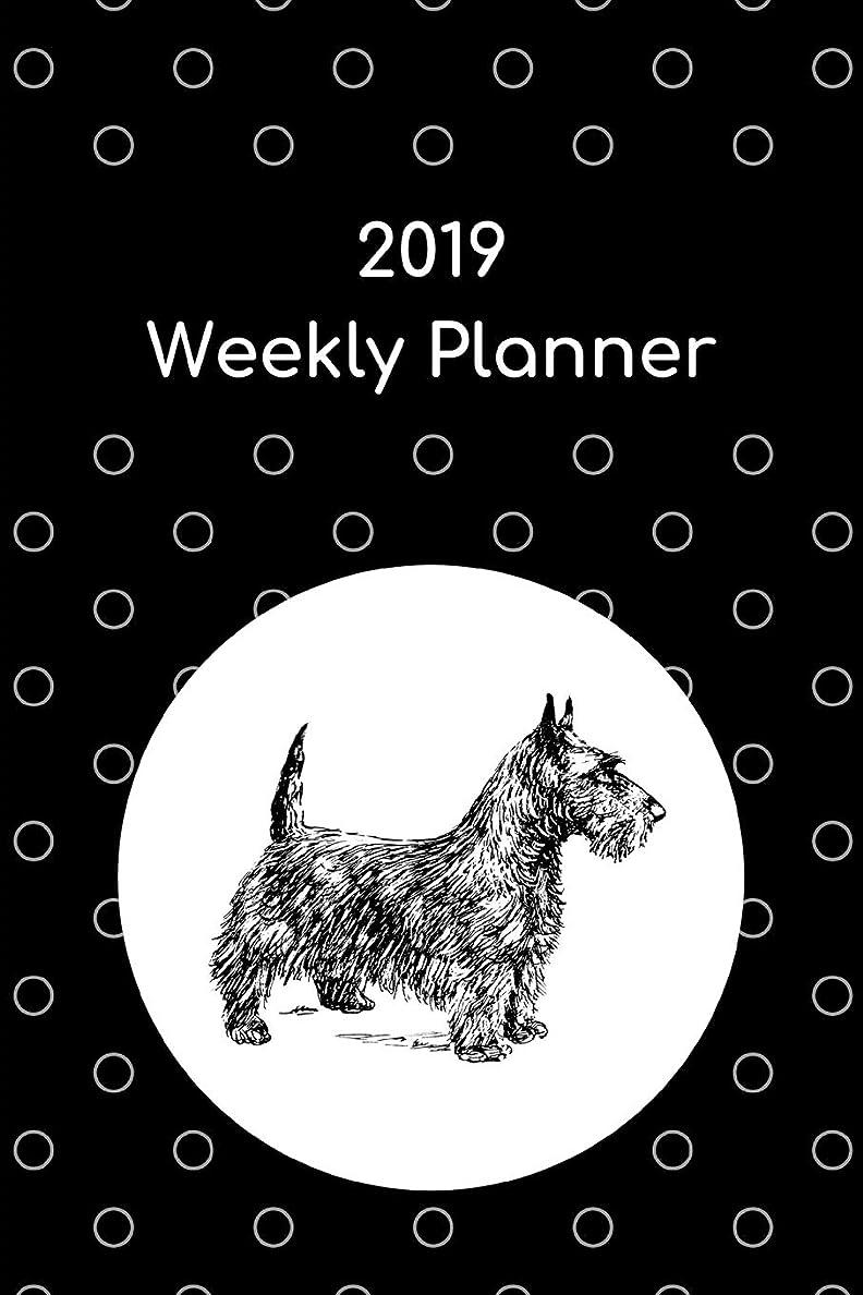 後ろ、背後、背面(部投げる国民投票2019 Weekly Planner: Scottish terrier