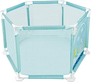 DZWSD Baby Playpen Playard Safety Protective Lightweight Mesh Indoor  amp  Outdoor Play Space Helpful Maintain Clean and Tidy Home for You  blue
