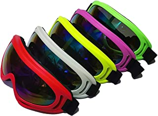 DPLUS Motorcycle Goggles ATV Dirt Bike Off Road Racing MX Goggle Anti-Dust Bendable Eyewear with Padded Soft Foam, Adjustable Strap for Adults' Cycling Motocross Skiing Pack of 5