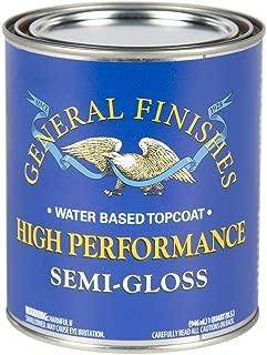 General Finishes QTHSG High Performance Water Based Topcoat, 1 Quart, Semi-Gloss
