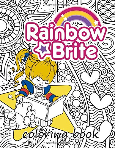 Rainbow Brite Coloring Book: Rainbow Brite funny gift for friends or kids and adults