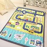 Zinsale Grand Épaissir Coton Tapis d'éveil Tapis de bébé Éducatif Matelas Rampant Tapis de pépinière Gym d'activité (Aéroport)