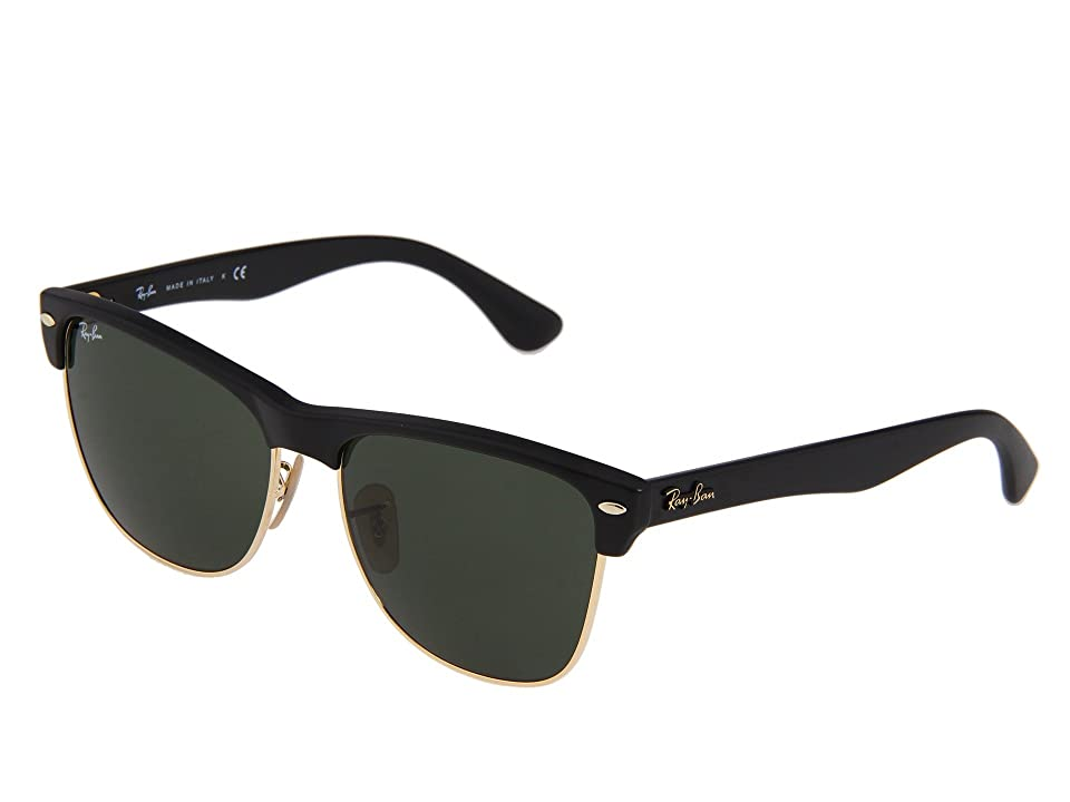 Ray-Ban RB4175 Oversized Clubmaster 57mm (Demi Shiny/Black Green) Fashion Sunglasses