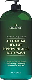 First Botany All Natural Tea Tree Body Wash - Fights Body Odor, Athlete's Foot, Jock Itch, Dandruff, Acne, Eczema, Yeast I...