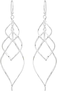 NOVICA .925 Sterling Silver Dainty Dangle Earrings 'Forever Linked'