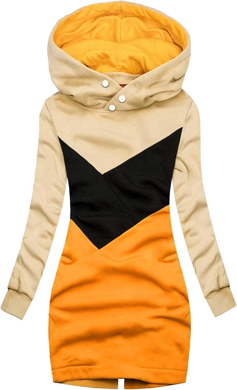 Donasty Damen Kapuzenpullover Hoodie Kapuzenjacke Sweatjacke Mantel Sweatshirt Zip Jacke Mit Kapuze Lange Gefüttert Herbst Winter X.