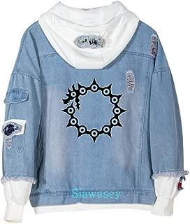 Anime The Seven Deadly Sins Cosplay Denim Jacket Hoodie Pullovers Sweatshirt Fleeces Costume