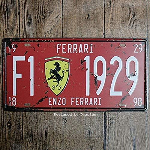 Cartel de metal Bidesign de 15,2 x 30,5 cm, para coche, con placa de coche, para decoración del hogar, con texto en inglés 'enzo...
