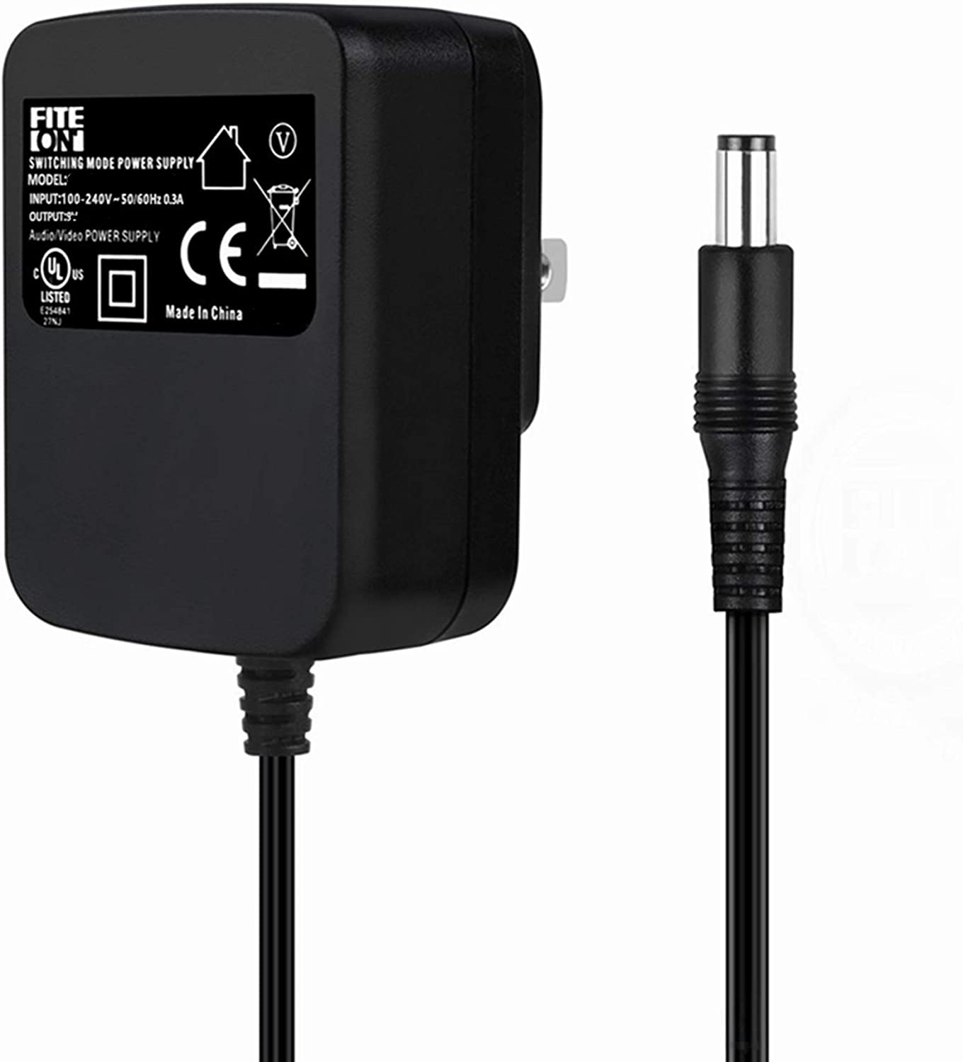5 ☆ popular FITE ON UL Our shop OFFers the best service Listed AC DC Casio CTK-480 CTK-51 for CTK-515 Adapter