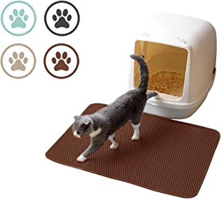 EMIN'S Cat Litter Mat, Cat Litter Trapper Catcher with Double Layer Honey Comb Design, Litter Trapping Mat, Waterproof Urine Proof Material, Easy Clean Scatter Control, Litter Box Rug