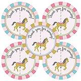 Adorebynat Party Decorations - EU Carrusel Gracias etiqueta engomada etiquetas de los favores de partido - cumpleaños Baby Shower - Set 30
