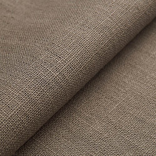 Auténtico Lino Ecológico BASIC - Tela de lino natural y pura - Por metro (Piedra)