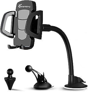 Suporte de celular universal Vansky 3 em 1, suporte de ventilação de carro, suporte de painel para suporte de para-brisa p...